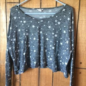 Super cute starry crop top!